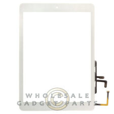 Digitizer with Home Button for Apple iPad Air White Front Glass Touch Screen
