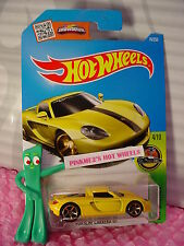 2016 i Hot Wheels PORSCHE CARRERA GT #74✰Canary Yellow; mc5✰HW Exotics✰Case N/P