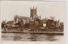 Vintage Postcard Worcester Cathedral from South