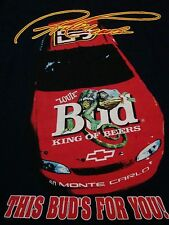 Vintage Bud Light NASCAR Racing Budweiser Beer Races Car T Shirt XL