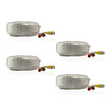 ANNKE 4x 30m 100ft BNC Video Power Cables Extend Wire for Home Camera System