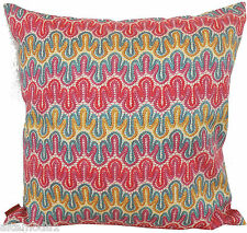MISSONI 100% GLOSSY COTTON SATEEN PILLOW COVER MERCERIZED DIAMANTE T57 LACE PRIN