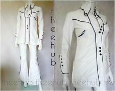 1970s Vintage Unique Sailor Cowgirl 'Budgie' Western Soul 2 Piece Cotton Suit