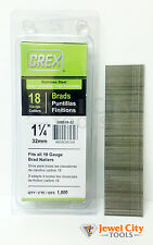 """Grex 18 Gauge 1-1/4"""" inch Long Stainless Steel Brad Nails - GBS18-32 Qty: 1000"""