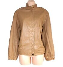 VTG Brown 100% Real Leather ARPHANOS ZIVANARIS Slouch Country Jacket Size UK 14