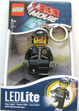 LEGO THE MOVIE - BAD COP - LED TORCH KEY LIGHT LITE KEY RING  – BRAND NEW!