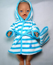 Bademantel mit Waschlappen  für Baby Born 43 / Krümel