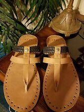 UGG WOMENS LEATHER SANDAL NEW NWOB SIZE 10
