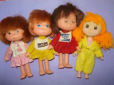 Vtg Totsy Clone Strawberry Shortcake Sized DOLLS & CLOTHES Lot Jelly Bean etc x4