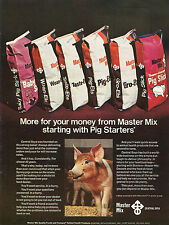 1974 Central Soya Master Mix Pig Starter Feed Print Ad