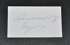 ANTHONY HOPKINS ~ ORIGINAL SIGNED / AUTOGRAPHED INDEX CARD w/ COA MINT!