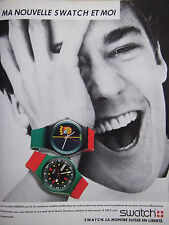 PUBLICITÉ DE PRESSE 1986 SWATCH LA MONTRE SUISSE EN LIBERTÉ - ADVERTISING