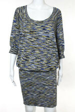 BCBG Max Azria Multi-Color Abstract Silk Cotton Sweater Dress Size Small