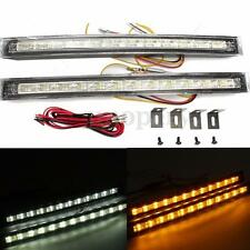 2X LED Car White Amber Daytime Running DRL Driving Turn Signal Indicator Light