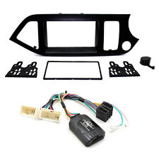 Kia Picanto 2011-15 Double Din Fascia Steering Controls Car Stereo Fitting Kit