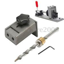 Pocket Hole Jig Kit With Step Drill Bit Woodwork Joint Carpentry Tool Hole Guide