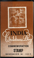 india stamped folder 1963 childrens day   a6