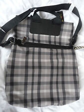 DAKS Brand New Black Multi-checked  large bag Style 2K3044 RRP £260