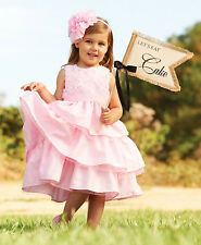 New Mud Pie PINK SILK ROSE  DRESS Holiday Christmas Easter  4T 4 yrs Girl gift