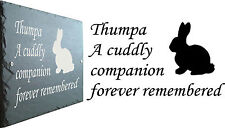 Memorial Slate Sign Plaque - Personalised for your Rabbit / Bunny - Grave Marker