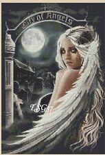 Cross stitch chart-GOTHIC ANGEL-nº 24 tsg37-GRATIS UK P & P