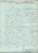 Manoscritto Protesta Sospetti Mal Fondati Sig Ricci Longone al Segrino Como 1842