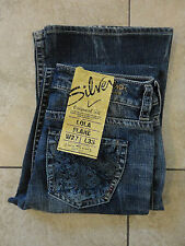 SILVER JEANS {27W L33} Original Fit LOLA Flare Embroidered Pocket NWT