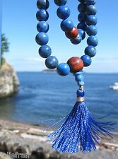 CUSTOM DESIGN TOP QUALITY GENUINE 8mm LAPIS LAZULI MALA TIBETAN BUDDHIST 108 + 3