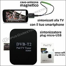 ANTENNA TV  DECODER MICRO USB SMARTPHONE TABLET TELEVISIONE DIGITALE TERRESTRE
