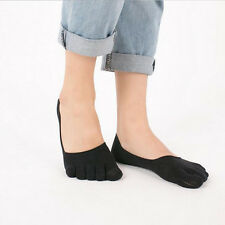 HOT SALE 1 Pair Black Women Casual Cotton Sports Five Finger Socks Toe Socks