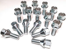 16 x Alloy wheel bolts lugs nuts. M12x1.25 - M12 x 1.25, 17mm Hex, taper seat