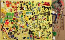 huge lot PLAYMOBIL mixed pieces 200+ figures accessories weapons rescue knights