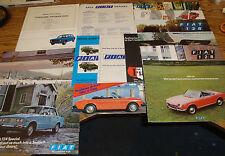 Original 1970 - 1986 Fiat Sales Brochure Sheet Lot of 110 Pieces 71 72 73 74 75