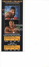 Mike Tyson vs. Tillman/ George Foreman vs. Rodrigues Boxing Ticket