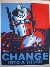 Change Into A Truck 09 Silkscreen Art Print 4th Edition Tim Doyle Transformers