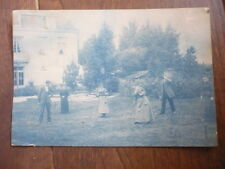 CYANOTYPE PHOTO ANCIENNE 19° SIECLE JEU DU CROQUET