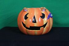 Halloween Ceramic Jack-O-Lantern Candy Dish Decorative Collectible Table Bowl