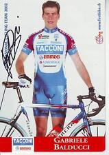 CYCLISME carte cycliste GABRIELE BALDUCCI équipe TACCONI emmegi 2002 signée