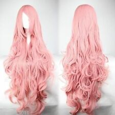 Free Shipping Cheap Long Vocaloid- Luka Pink Wavy Anime Cosplay Wig+gift earring