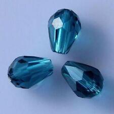 18 Pieces Swarovski Peacock-blue crystal 6010# 8*6mm Teardrop bead A
