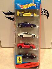 2014 Hot Wheels Ferrari 5-pack