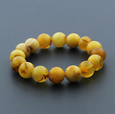 Natural Baltic Amber Bracelet Large Round Bead 12mm. 14.98gr. RB15