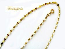 """14K yellow gold Diamond cut sparkling discs chain 16 """" 1.8 grams made in Italy."""