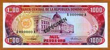 Specimen, Dominican Republic, 1000 Pesos Oro, 1981, P-124s1, UNC