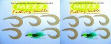Fly Fishing Suede Duel Head Fly Bodies with Unique Wiggle/Spin Action( 2 packs)