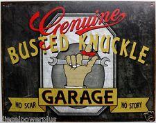 Genuine Busted knuckle garage tin metal sign truck Hot Rod chop shop poster 2070