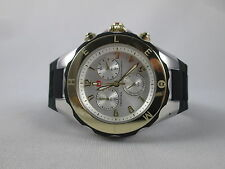 NEW Michele Large Tahitian Jelly Bean Black Two Tone Watch MWW12F000057