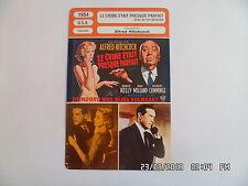 CARTE FICHE CINEMA 1954 LE CRIME ETAIT PRESQUE PARFAIT Ray Milland Grace Kelly
