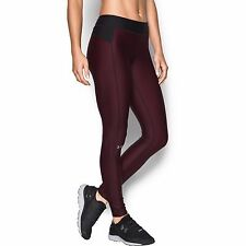 UNDER ARMOUR HG ARMOUR PRINTED LEGGINGS 1297911 004 Size LARGE BLACK/BURG RED