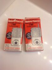 2 Vintage Archer Space Patrol Walkie-Talkie 2-Way Transceiver NOS?